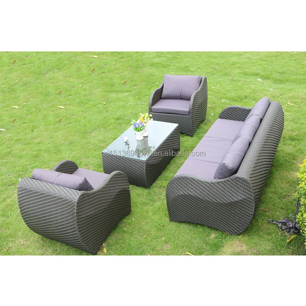 Conversation Set Indoor Rattan Sofa Modern Design Outdoor Patio ...