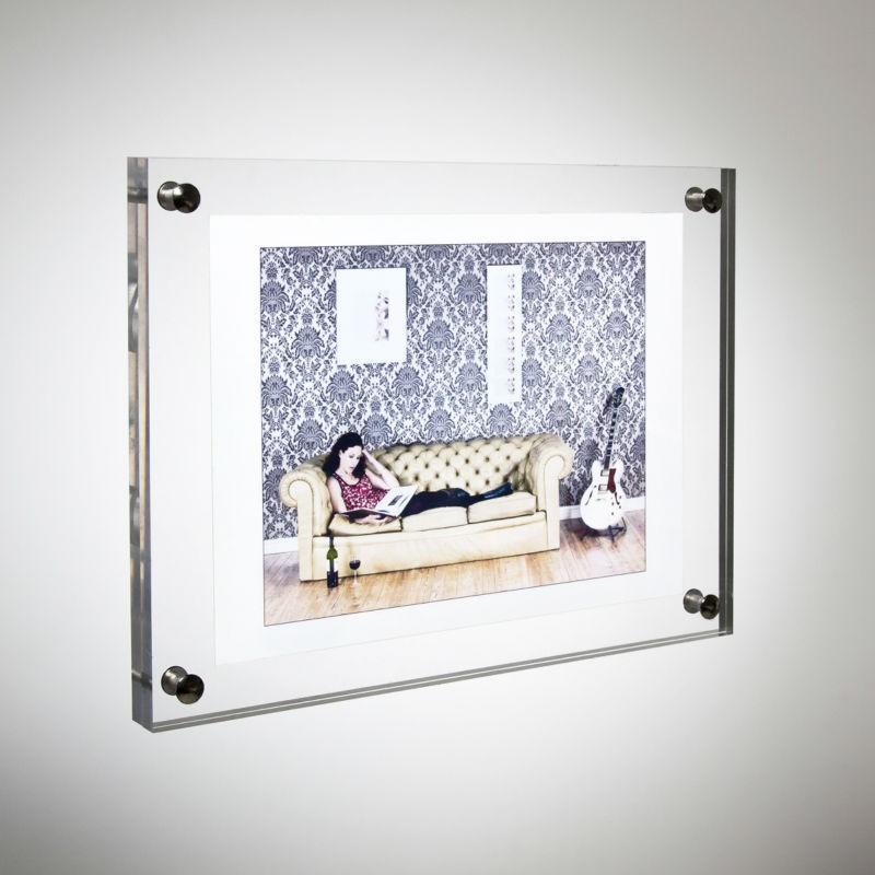 Transparent Wandhalterung Acryl Bilderrahmen,Lucite Hängen ...