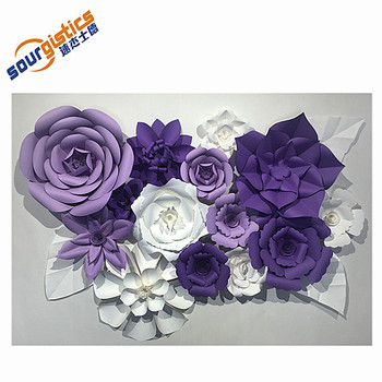 Handmade wedding decoration wall paper flower wedding backdrop buy handmade wedding decoration wall paper flower wedding backdrop mightylinksfo