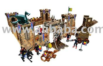Wooden King And Knights Castle Playset Buy Toy Wooden Playset Product On Alibabacom