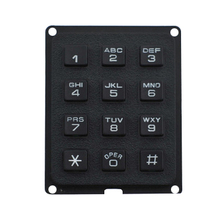 cheap plastic usb access control keypad 4x3 matrix keypad