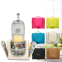 hanging travel and bathroom eco beauty clear cosmetic bag