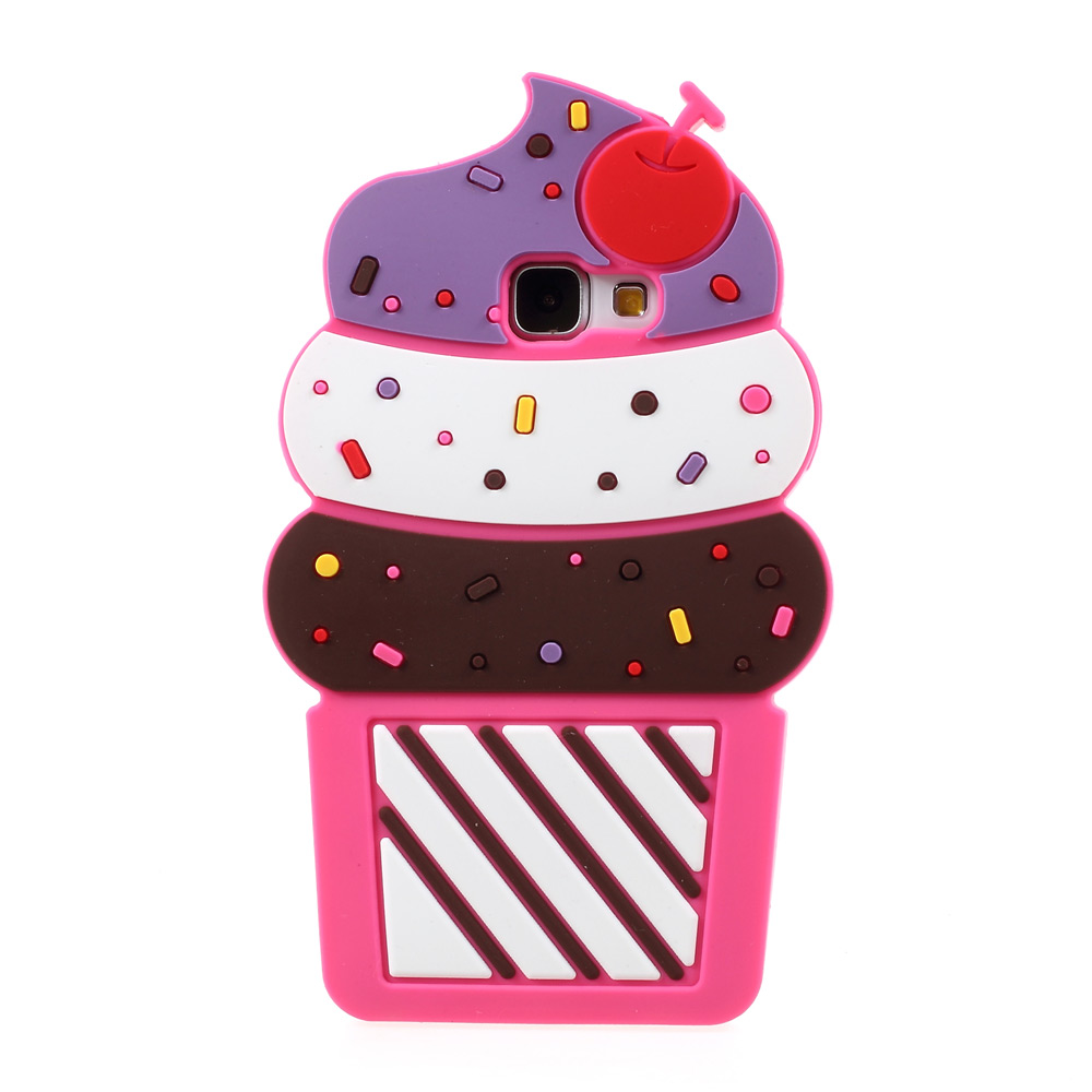 3D Cherry Ice Cream Silicone Phone Case for Samsung Galaxy A5 A510 (2016)