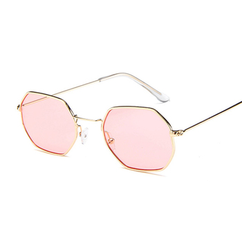 6889ef6bc6a Tinted sunglasses women small Hexagon Metal Frame Polygon 2018 Brand Design  Vintage Sun Glasses For men