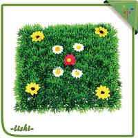 China online shopping high quality Four heads artificial moss green flower pot green wall