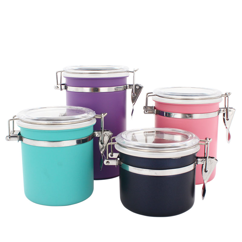 4-piece Acrylic Canister Set Colorful Kitchen Storage Canister With Lid  Airtight Container Canister Jar - Buy Kitchen Storage Canister,Canister ...