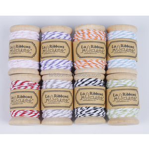 Custom wood spool bakers 12ply cotton twine