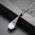 LUOTEEMI New Fashion Imitation Pearl Necklace Jewelry for Women White Gold Color Link Chain Pendant Necklaces Bijoux Femme Gift