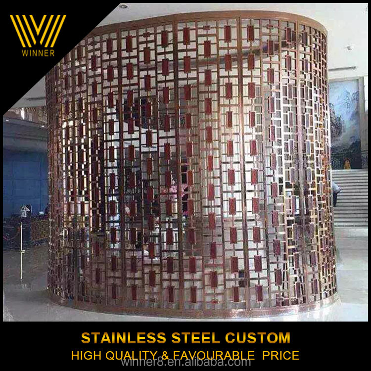 OEM custom Laser cut stainless steel round stainless steel screen