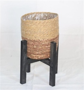 Wholesale Natural Seagrass Belly storage baskets with Handles, Large Storage Laundry Basket for home decoration