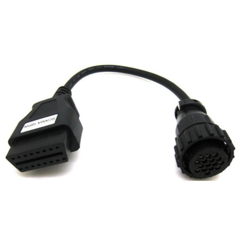 Scania 16 контакт. OBD2 OBDII кабель для ас / к / COM CDP грузовики диагностический разъем инструмент бесплатная доставка 15% от