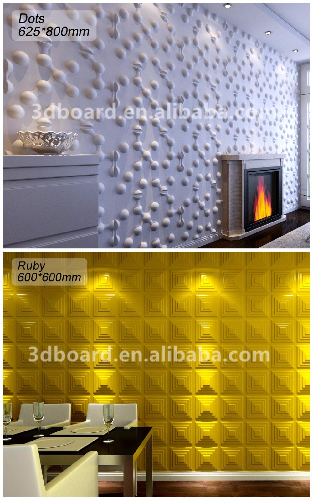 Interior Decoration Bamboo Wallpapers Fibre Decor Wall Coating 3D Panels