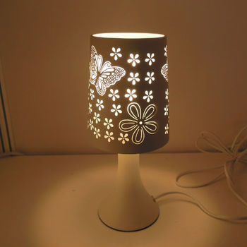 Butterfly Diagram Ceramic Table Lamp,Rechargeable Table Lamps For  Commercial Or Home Use,model