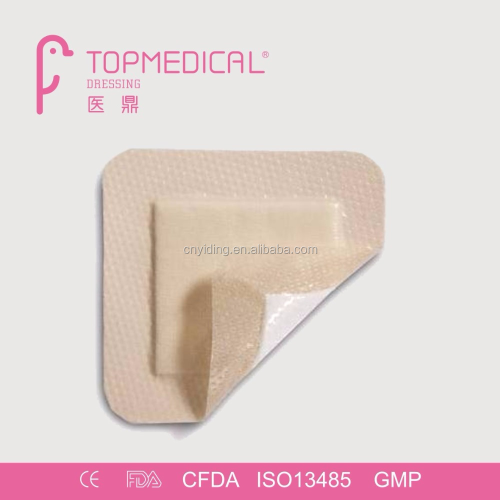CE Approval Border Lite Hydrophilic Silicone Foam Dressing, comparable to mepilex