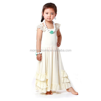 99766839d1a4 Wholesale ivory baby girls maxi dress kids frock designs pictures ...