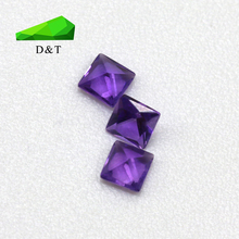Natural amethyst square 2.5*2.5mm loose amethyst gemstone