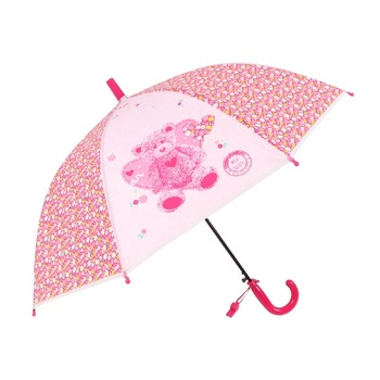 FREE SHIPPING to India RST fashion rain child  cute kids umbrellas with printing for wholesale