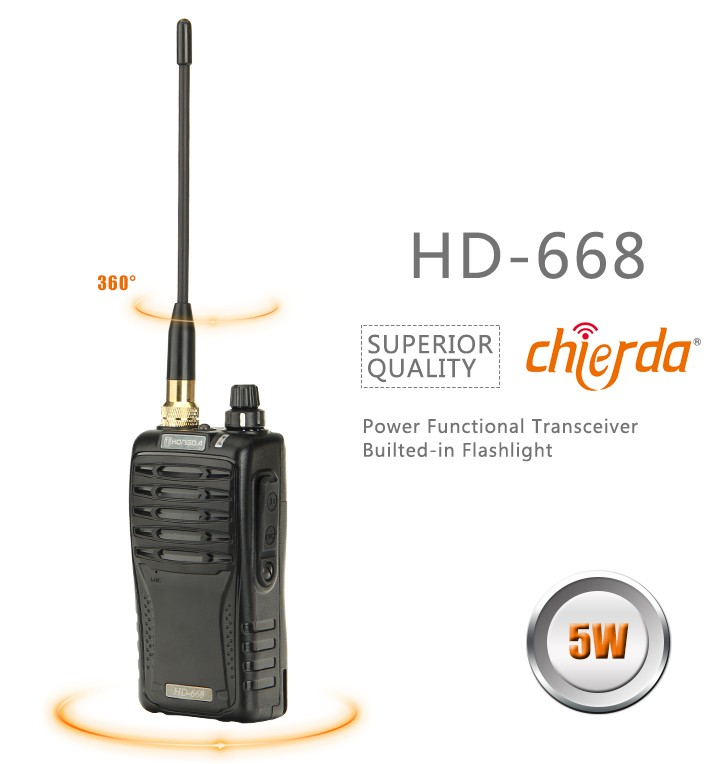 CD-668 Military communication devices Torch light function walkie talkie programming