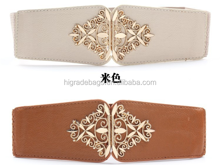 wide ladies fashion fancy leather belts for women