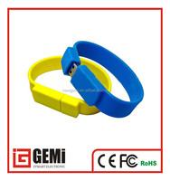 shenzhen alibaba express snap silicone usb bracelet / wristband usb pendrive / colorful wristband usb1gb 2gb