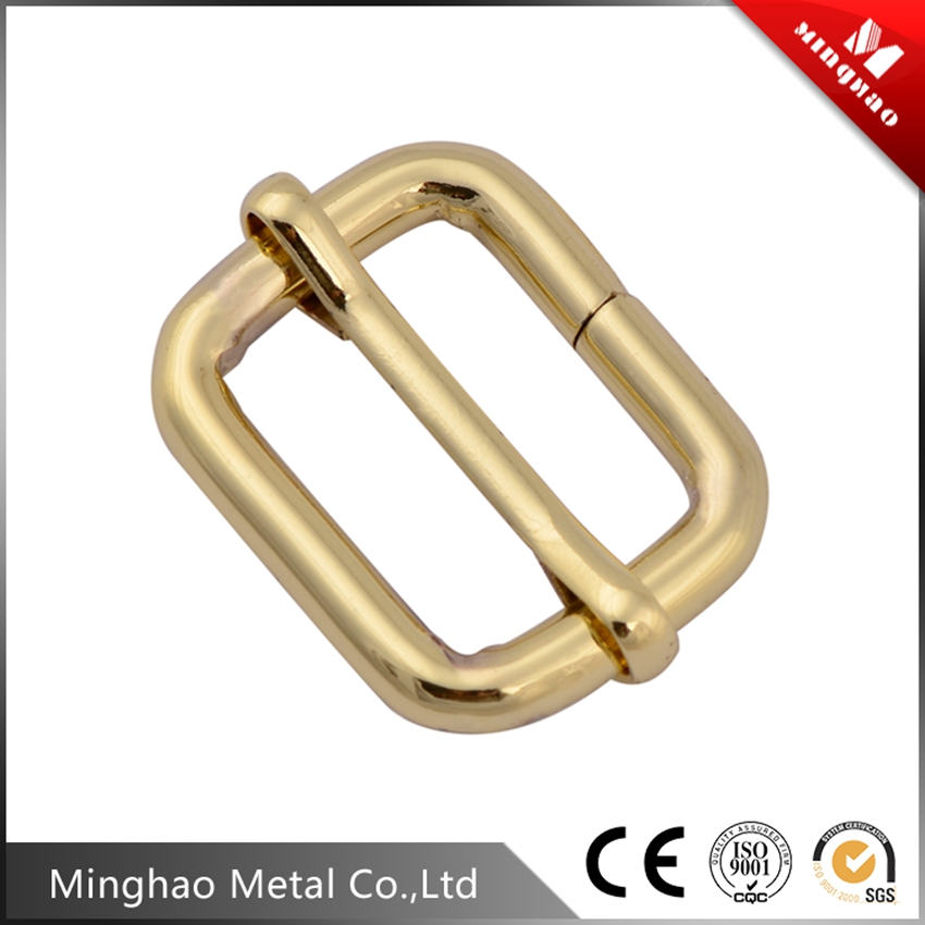 Wholesale 1 inch zinc alloy buckle slide, metal slide buckle for leather