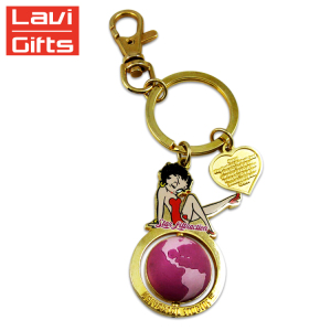 Hot Sale Custom Metal HXY Funny Sexy Woman Girl Keychain