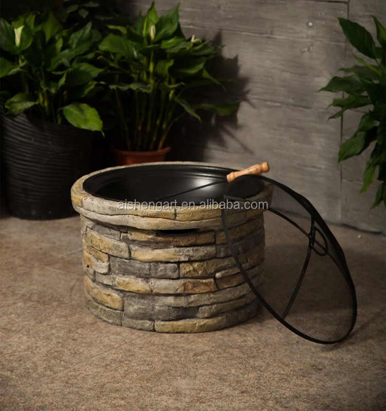 35inch Garden Treasures Cast Stone Fire Pit Bowl For