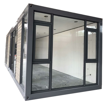 chinese modern modular low price prefab light steel structure frame flat pack insulated furnished container boat house