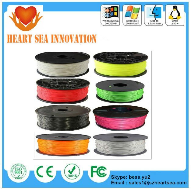 2014 Hot sell 3D material 3D Printer supplies Filament RepRap ABS 1.75mm 1kg/roll