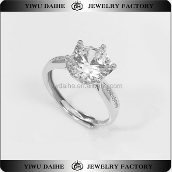 CZ Diamond Rings Smart Openning Wholesale Jewelry Supplies 925 Sterling Silver Jewelry