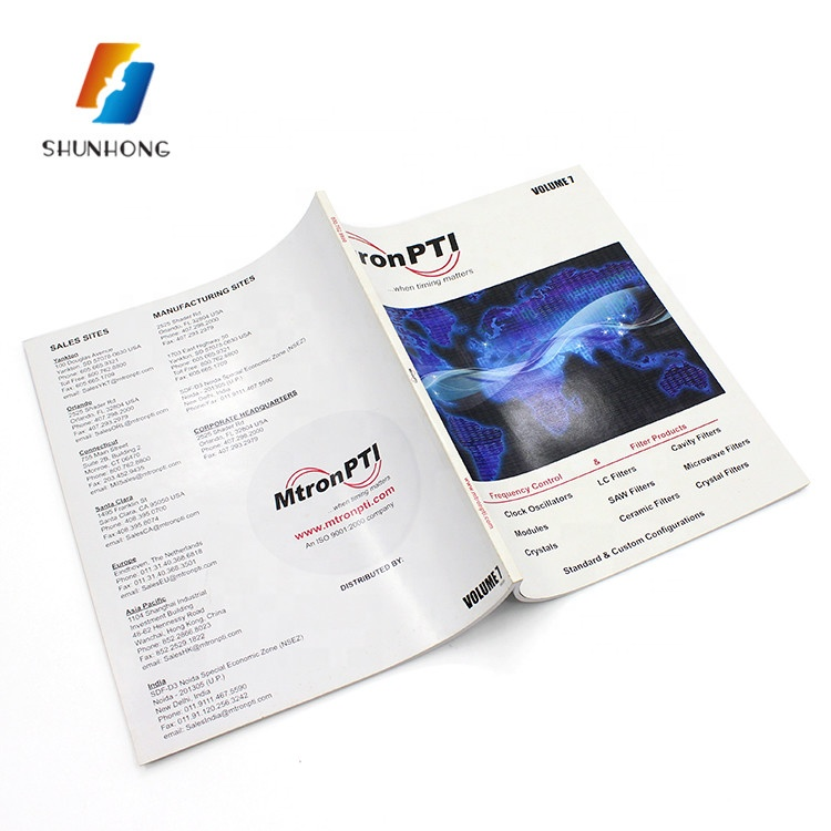 Coloring high quality product catalogue/custom book printing
