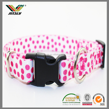 competitive price make ribbon dot printed plain nylon flea collar dog