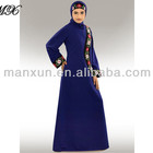 Trendy Muslim Dress with Embroidered Daily and Evening Party Wear Burka / Islamic Clothing Burqa