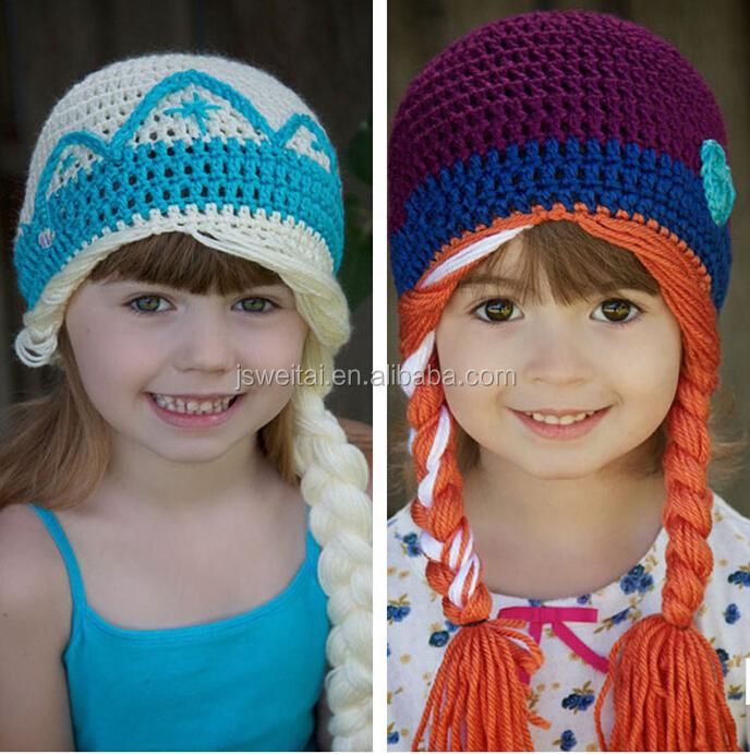 Princess Anna And Queen Elsa Crochet Hats Frozen Winter Buy