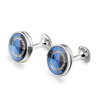 Marlary High Fashion Christmas Promotion Gifts Make Custom Blue Stone Italian Cufflinks For Mens Shirts