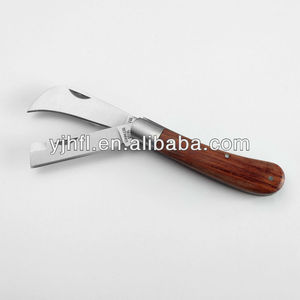 Double blades Pruning knife Budding Knife Grafting Knife with wooden handle