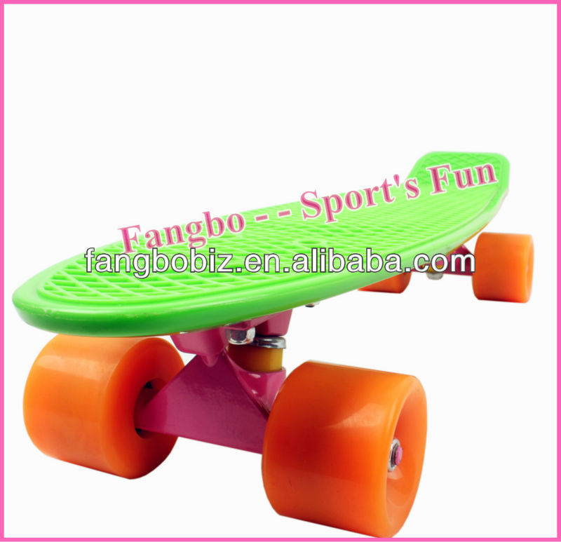 Penny Skateboard Retro Cruiser - Ridge plastic penny style 70S (CE & ASTM Certificated)