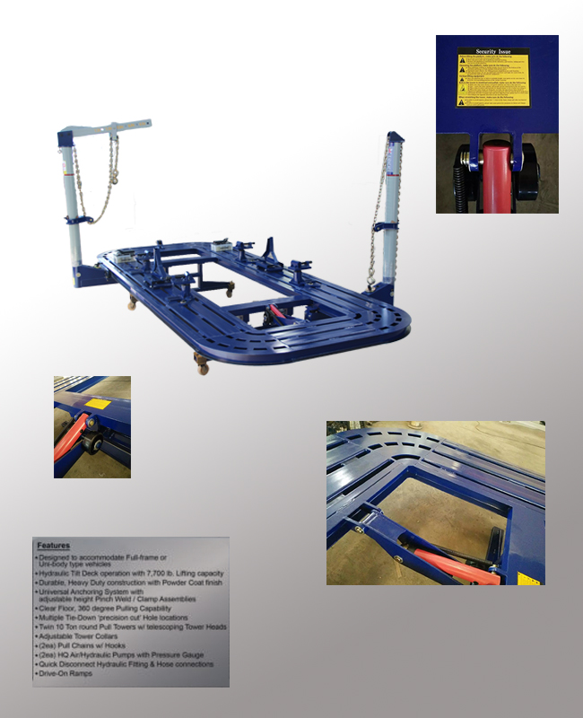 S1L Auto body frame machine/ steel frame/quilting frames with high quality