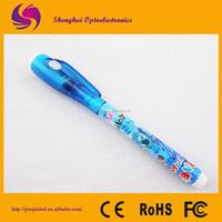 Magic Invisible UV Secret Pens with waterproof ink /Magic Uv Light Pen