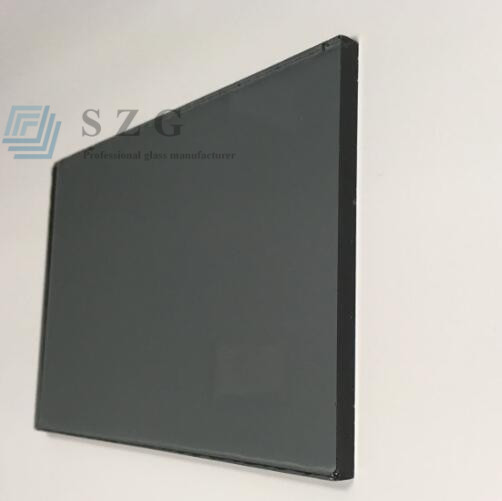 Fast delivery time 4mm light gray color tinted float glass price