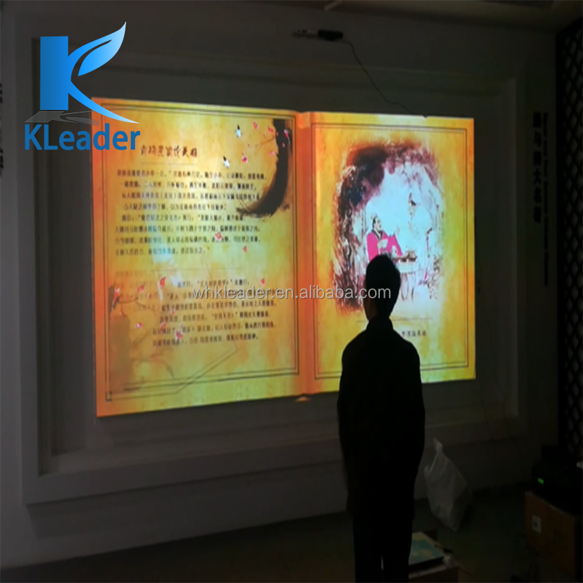 Kinect Virtual Projection Book/ebook,Interactive Projection Book/ebook On  The Wall,Ar Projection Flip Book - Buy Augmented Reality Games,Interactive