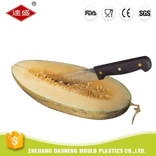Super best quality wholesale black plastic stainless steel salad fish carving fruit cutting set kitchen knife