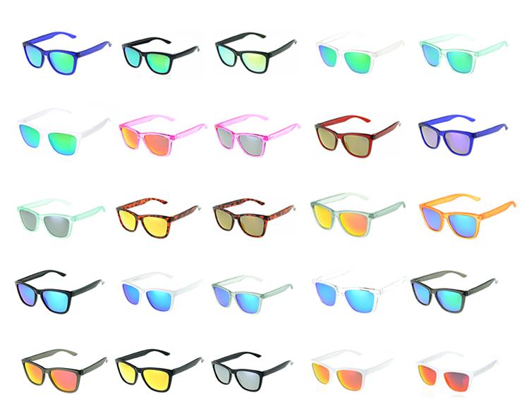 14677a19ea6 Custom branded mirrored women men polarized trendy lifestyle sunglasses