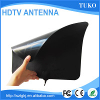50 Mile Range Flat HDTV Antenna with Built-in Amplifier- Flat and Super Thin, Digital 1080P TV Antenna with Amplifier