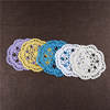 14CM Handmade knitted cotton crochet lace coaster cup mat, UKCM02
