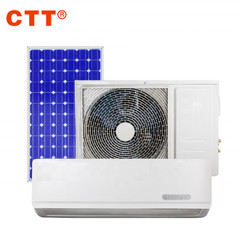 1.5HP AC/DC hybrid solar powered air conditioner for home heating and cooling
