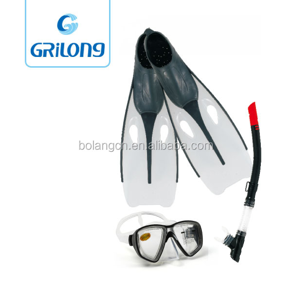 swimming equipment for diving mask diving fins swim snorkel set 2017