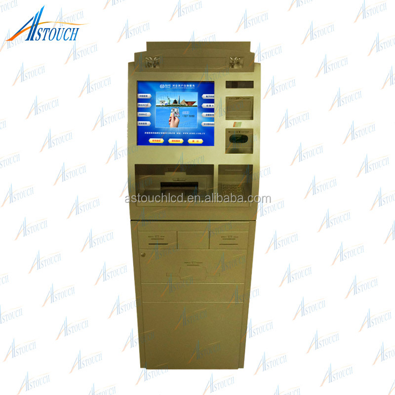 17inch /19 inch touch screen card dispenser/ ticketing payment/key card dispenser kiosk