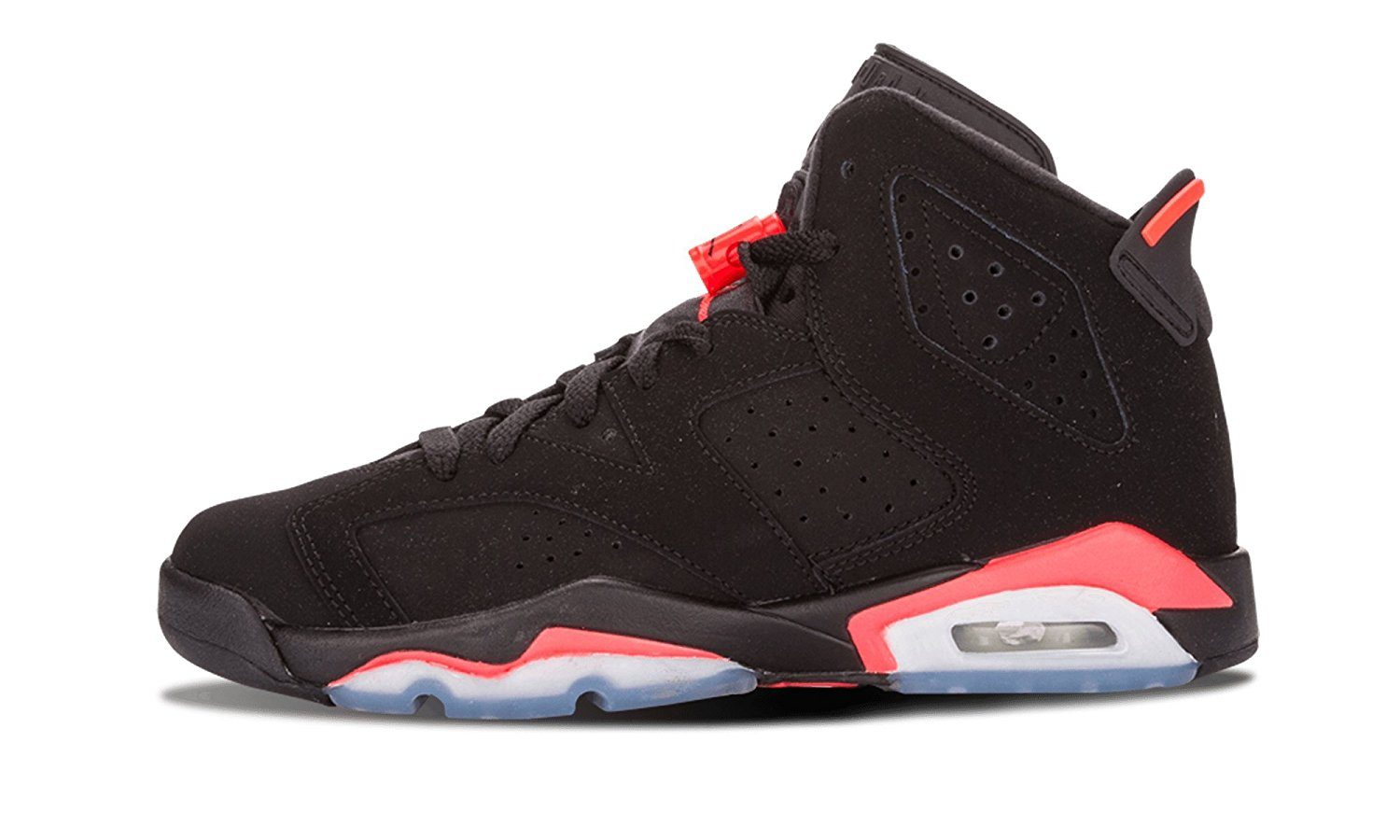 buy popular 79c54 fc08f Get Quotations · Nike Boys Air Jordan 6 Retro BG Infrared Suede Basketball  Shoes