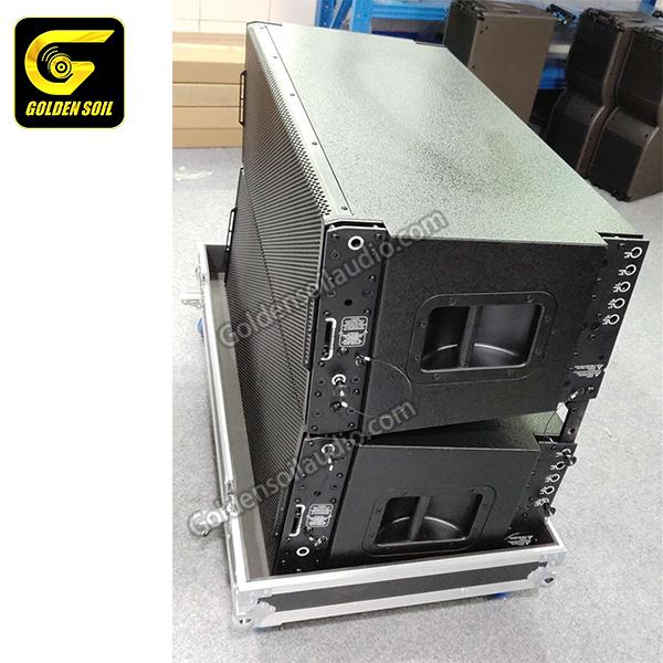 TTL55 Dual 12' inch rcf dual 12 inch line array ativo,bocinas de alto  falante 12 polegadas